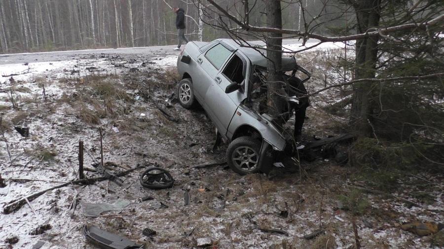 В Пермском крае водитель перевернул автомобиль и погиб - фото 1